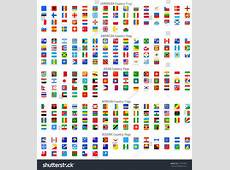 Full Collection World Rounded Square Vector Stock Vector