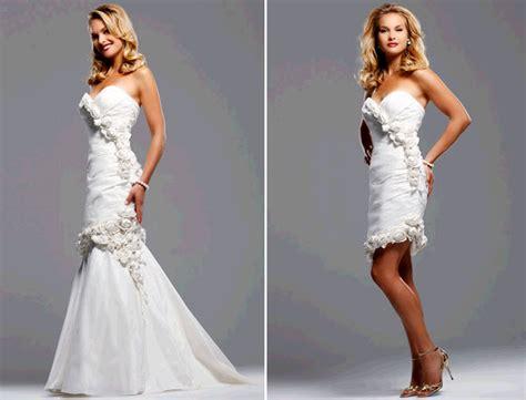 White Sweetheart Neckline Mermaid Wedding Dress By David