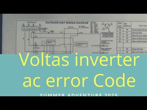 voltas inverter ac error code list