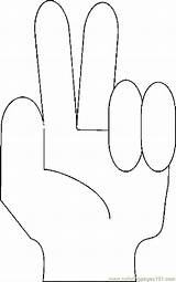 Fingers Coloring Sign Pages Printable Body Hands Feet Coloringpages101 Pdf sketch template