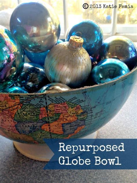 trash  treasure diy repurposed globe bowl