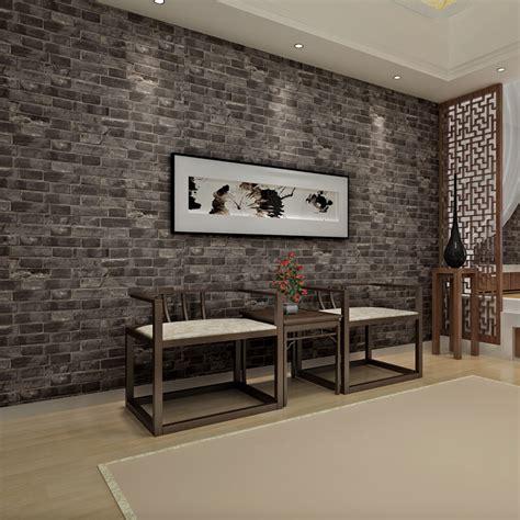 chinese vintage pvc greyredpurple brick wall