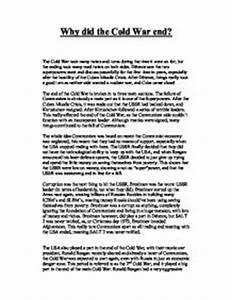 Cold war essay introduction high quality custom essays cold war ...