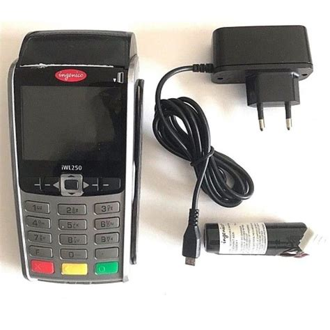 A credit card is a payment card issued to users (cardholders) to enable the cardholder to pay a merchant for goods and services based on the cardholder's accrued debt (i.e., promise to the card issuer to pay them for the amounts plus the other agreed charges). Ingenico iWL250 Credit Card Machine Used