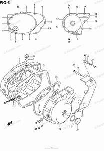 Suzuki Motorcycle 2002 Oem Parts Diagram For Crankcase Cover