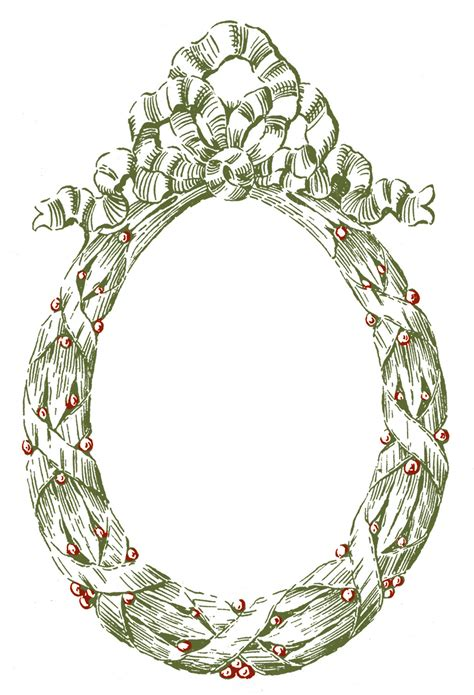 oval christmas frames vintage graphic frame oval wreath the graphics