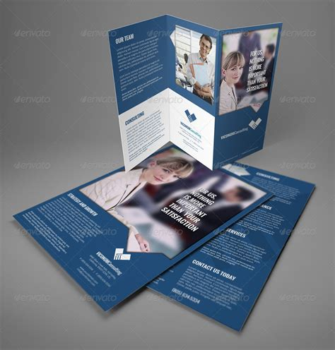 4 sided brochure template a4 trifold double side flyer template by illusiongraphic