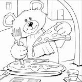 Pizza Coloring Pages Colouring Bear Teddy Printable Bears Sheets Italian Eat Books Cooking Animals Craft Complicated Birthday sketch template