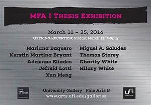 MFA Thesis Candidates Exhibition I   Events   College of ...