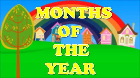 Months Of The Year Song Nursery Rhyme - YouTube