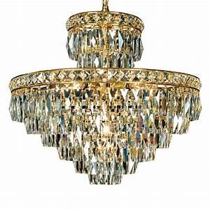 Rectangular cut crystal chandelier diamond allure