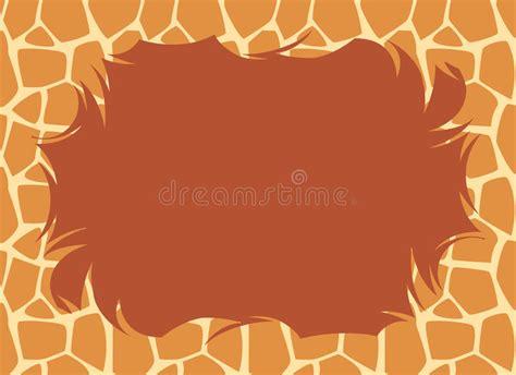 Giraffe Fur Border Stock Photos
