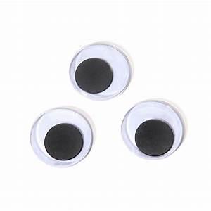 Googly Eyes: 20mm, Black, Paste On Craft Eyes