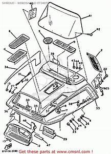 Yamaha Et340 Tf Enticer 1982  1983 Shroud