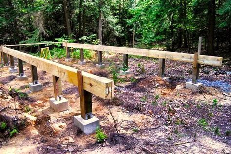 How to Install Pier and Beam Foundations ? Rising Barn