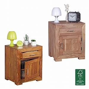 Besteckeinsatz Schublade 50 Cm : finebuy nachttisch massivholz nachtkommode 60 cm hoch 50 cm breit mit schublade und tr ~ Watch28wear.com Haus und Dekorationen
