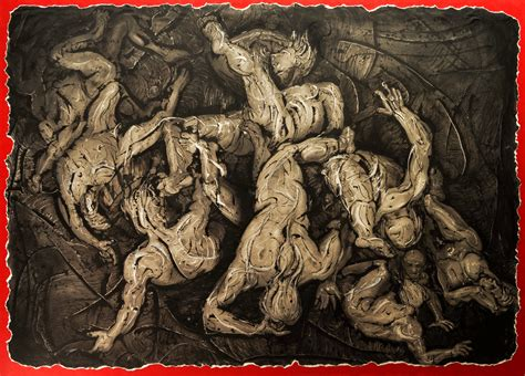 The Fall Of Man Drawing By Richard D Serrosserros Studios