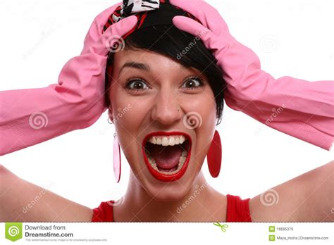 Portrait Of Screaming Woman Royalty Free Stock Images - Image: 16695379