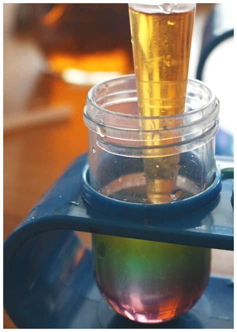 sugar water density rainbow science experiment