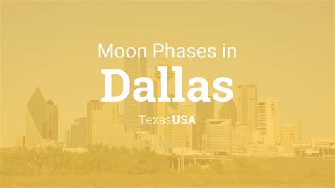 moon phases  lunar calendar  dallas texas usa