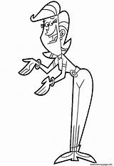 Cartoon Coloring Mom Fairly Parents Odd Pages Fairy Oddparents Character Printable Dad Timmys Turner Characters Clipart Sheet Timmy Cliparts Colouring sketch template