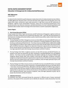 Afghanistan: Initial Rapid Assessment Report: Education in ...