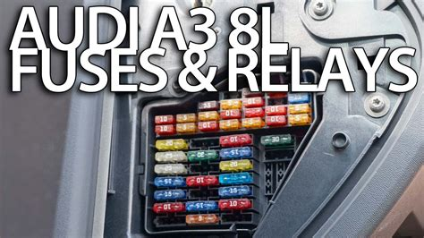 where are fuses and relays in audi a3 8l cabin and engine fuse box location