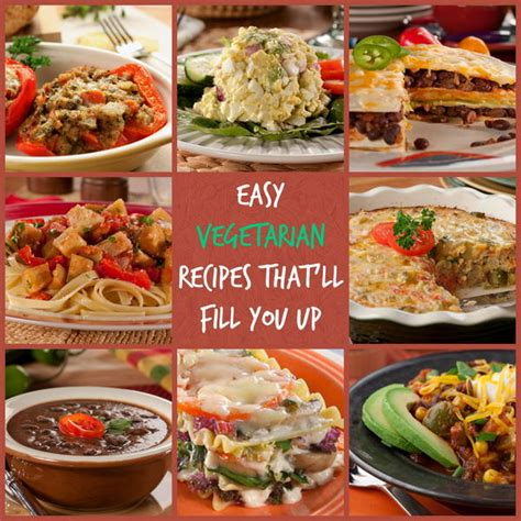 simple vegetarian dinner recipes 10 easy vegetarian recipes that ll fill you up mrfood com