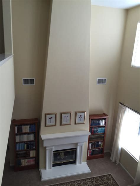 hang   fireplace   large room
