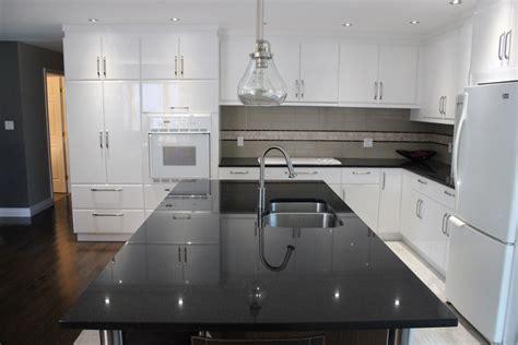 lustres de cuisine armoires de cuisine en polymère blanc lustré cuisines despro