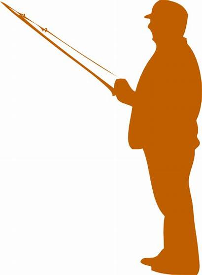 Silhouette Rod Fishing Fisherman Pescador Svg Clip