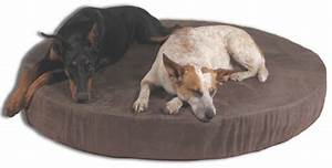 Round orthopedic dog beds memory foam dog beds for Big round dog bed