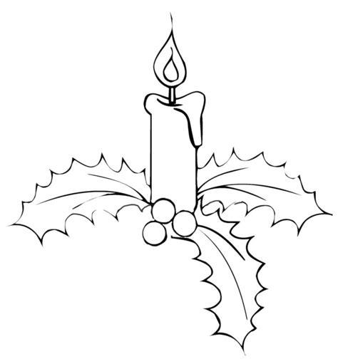 disegni di candele natalizie disegni candele natale az colorare