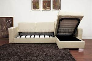 Superb sectional sleeper sofa with storage 8 cream fabric for Sectional sleeper sofa with storage and pillows