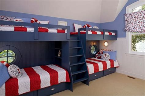 Bunk Beds For Four, A Space-saving Solution For Shared