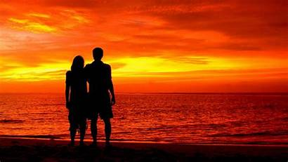 Couple Evening Romantic Wallpapers Fantastis