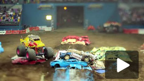 monster truck videos amazing tilt shift video from monster truck rally