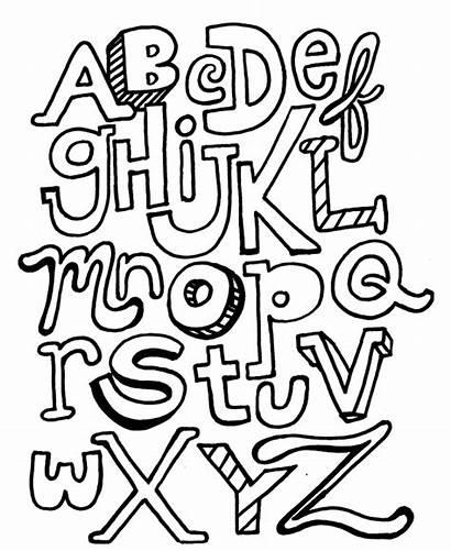 Coloring Pages Letter Block Alphabet Letters Printable