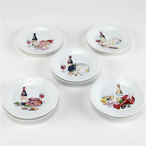 canape limoges limoges porcelain wine and cheese canape plates ebth
