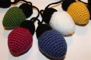 the knitted loop christmas holiday lights pattern