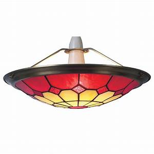 Tiffany large bistro red ceiling light shade uplighter cms