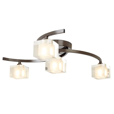 cube 4 light fitting pewter ceiling light