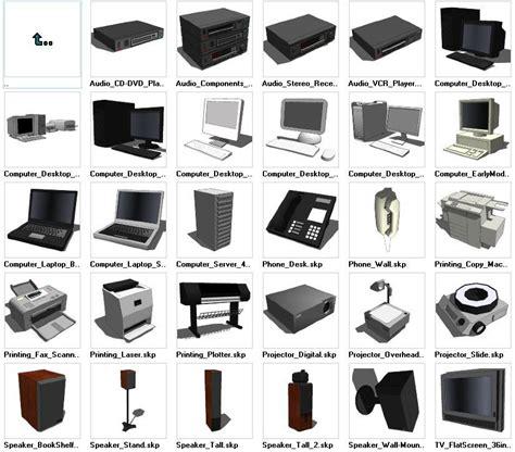 sketchup electronic  models  cad design