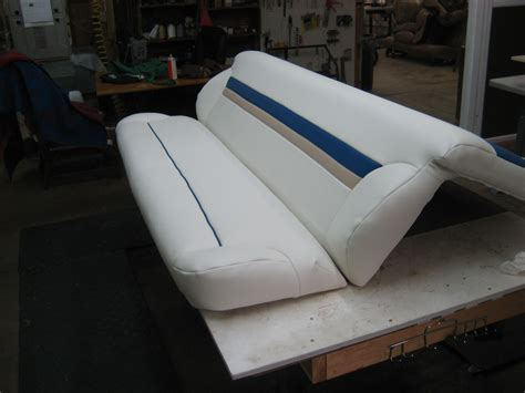 Boat Upholstery Shop by Fishing Boat Upholstery Repair For Its Bench Seat