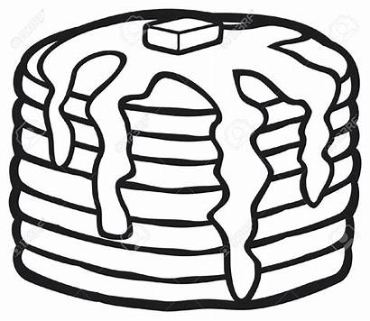 Pancakes Syrup Clipart Butter Maple Pancake Stack