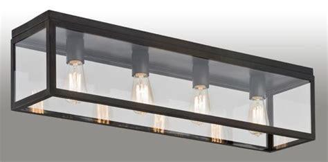 contemporary ceiling light rectangular metal led