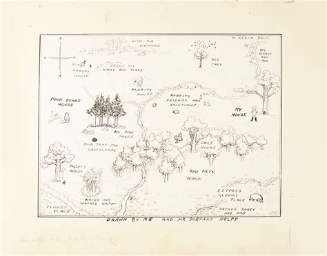 Winnie The Pooh Map Illustration Sets A Major New Auction
