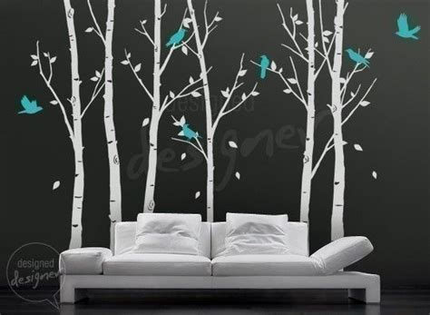 vinyl wall decal sticker birds in the forest