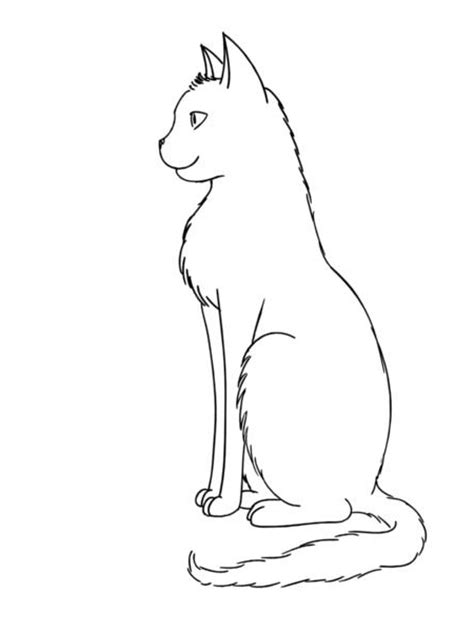 gallery easy anime drawing cat sitting outline by gedankenfrei25 on deviantart