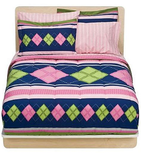 preppy comforter sets new 7pc preppy pink bed in bag comforter set ebay